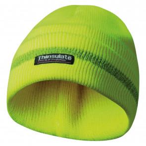 GEBOL 700001 čepice s reflexní proužky žlutá Thinsulate vložka