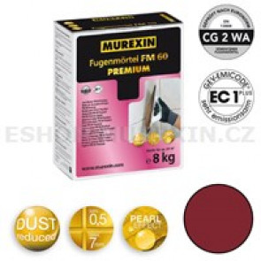MUREXIN Spárovací malta  FM 60 Premium 8 kg rubinrot