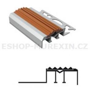 MUREXIN Profil schodový ALU s PVC vložkou MS 12.5 hnědá