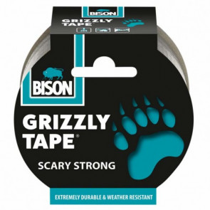 BISON GRIZZLY TAPE 10 m stříbrná